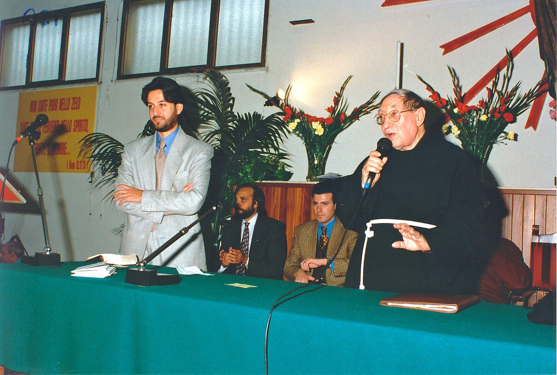 Padre Matteo con Salvatore Martinez