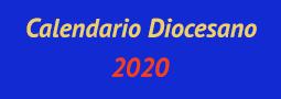Calendario diocesano 2020